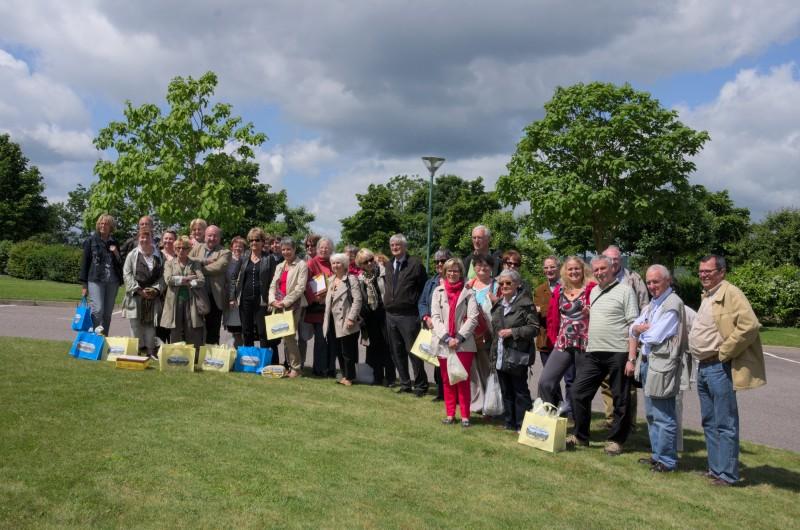 Les adhérents de L'AAMEN en visite à Commercy (Meuse)