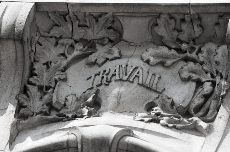 Mairie d'Euville, début du XXe siècle, de style Art Nouveau : travail