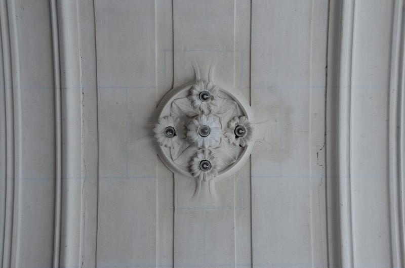 Mairie d'Euville, hall d'entrée, détail plafond