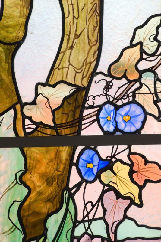 Mairie d'Euville, détail vitraux de Jacques Gruber (2)
