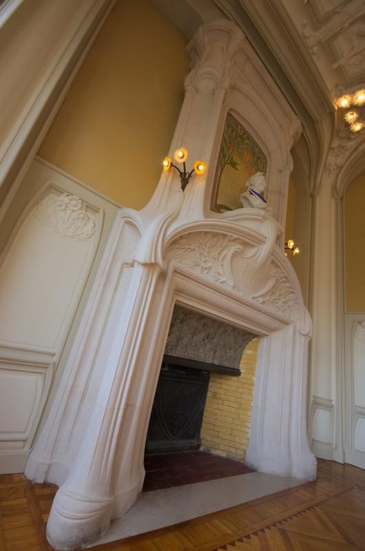 Mairie d'Euville, la cheminée du grand salon