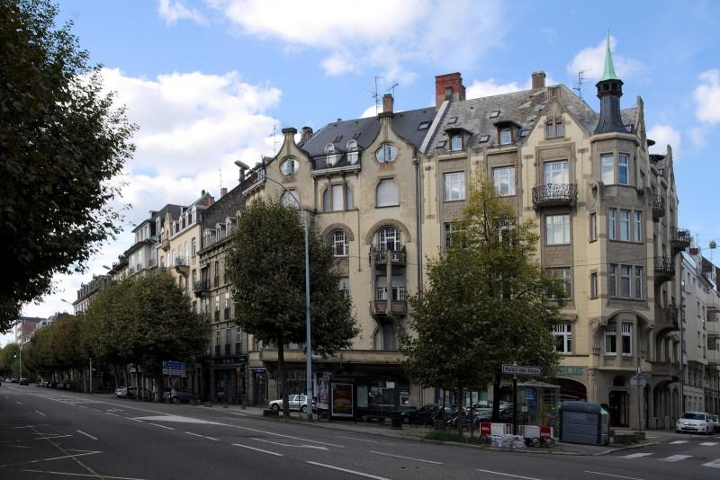 Strasbourg, immeuble Art Nouveau, avenue des Vosges / rue de Phalsbourg