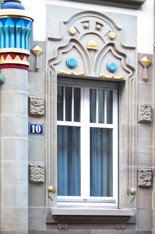 Immeuble égyptien, rue du général Rapp